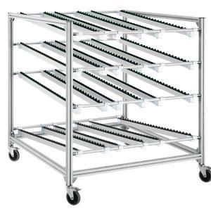 Flow rack em perfil de alumínio
